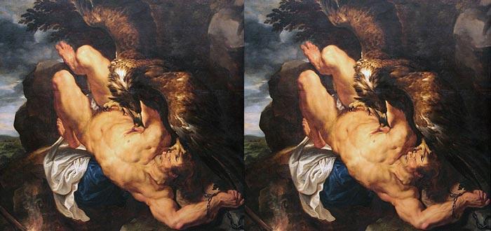 mitos de zeus, Prometeo encadenado, Rubens