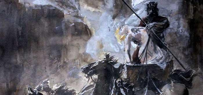 El rapto de Proserpina o Perséfone por parte de Hades o Plutón