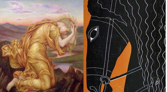 Arión, el fabuloso caballo fruto de la violación de Demeter por Poseidón
