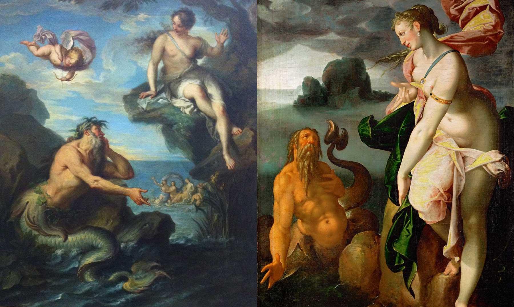 Resultado de imagen de La leyenda mitológica de Glauco, el pescador que se convirtió en Tritón