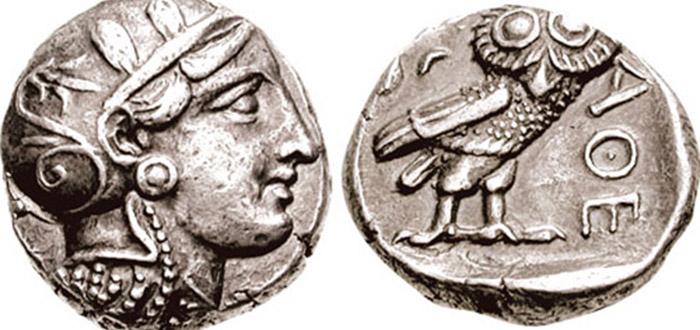 Significado del búho, moneda