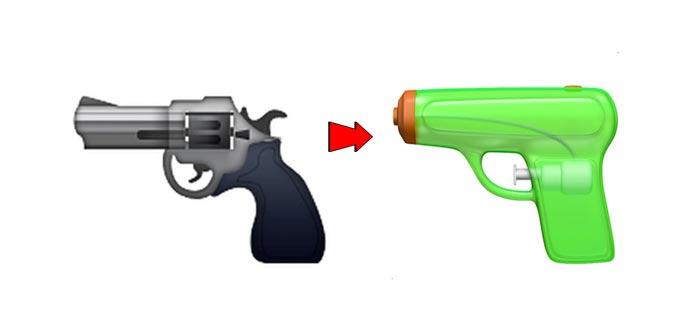 emojis polémicos, emoji pistola