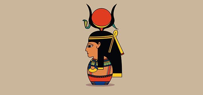 hathor, diosa del amor egipcia, busto