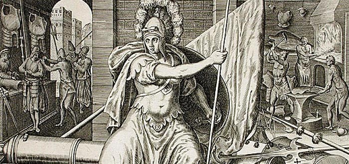 ilustración diosa romana de la guerra, Belona