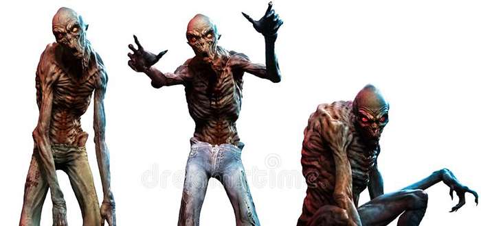 Tipos de zombies, ghoul