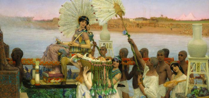 moisés y ramsés, moisés hallado por la princesa egipcia