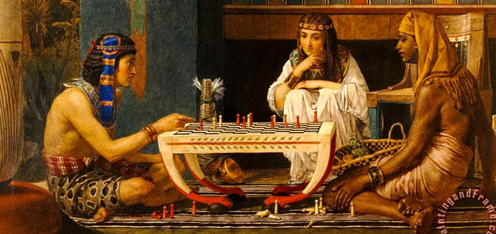 Ramsés y Moisés, jugadores de ajedrez egipcios 1865 Sir Lawrence Alma-Tadema