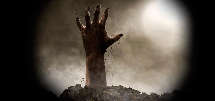 tipos de zombie, mano tumba