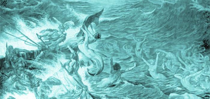 diosa germana del mar, nueve hijas de ran