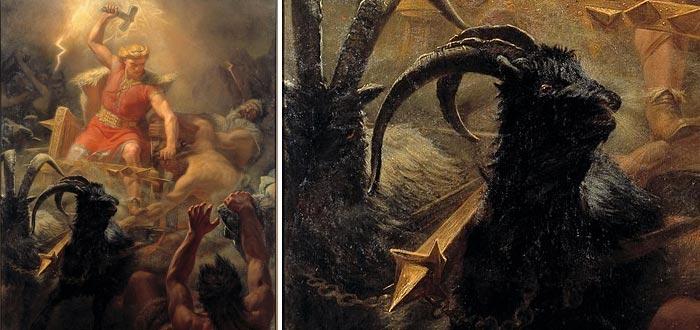 hijos de Odín, Thor y su carro guiado por cabras