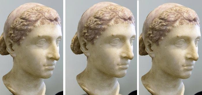 Cleopatra en imágenes, busto
