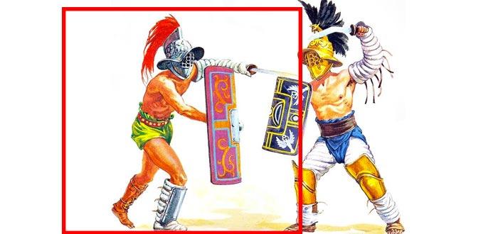 murmillo, tipos de gladiadores