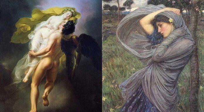 Bóreas, el devorador, el temible dios griego del Viento del Norte