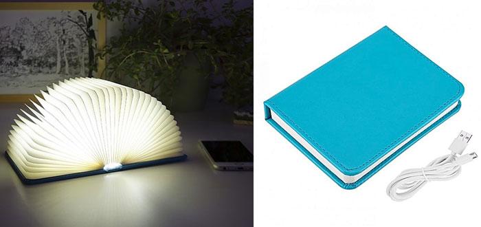 regalos muy curiosos, lámpara libro