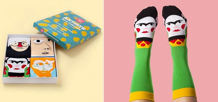 regalos muy curiosos, set de calcetines artistas