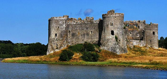 carew castle, gales, castillos abandonados