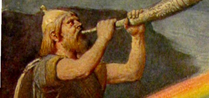 Cuerno Vikingo soplar