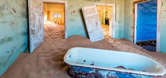 edificios abandonados, Kolmanskop, Namibia