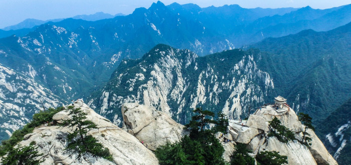 Monte Huashan pavellón