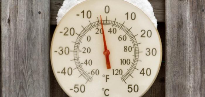 Número cero termometro