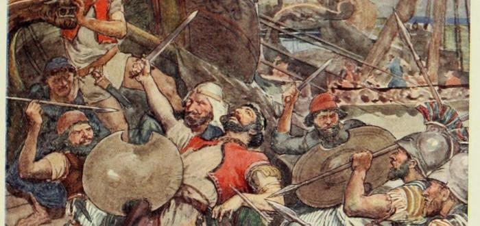 Batalla de Salamina pintura