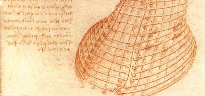 Cuadernos de Leonardo Da Vinci rojo