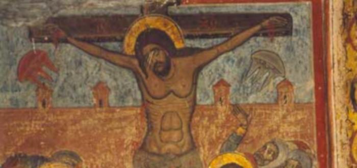 Obras de arte con tecnología crucifixión