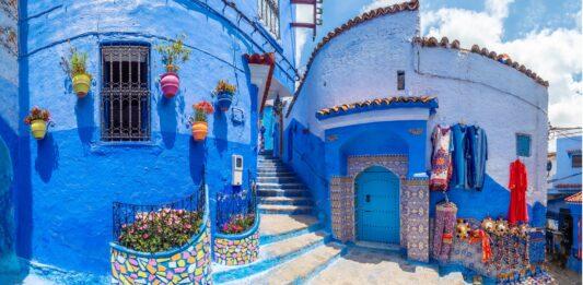 ciudad azul de Marruecos