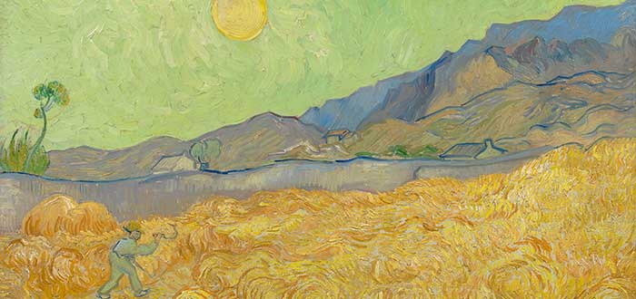 5 Pinturas de Van Gogh | Wheatfield with a Reaper and Sun