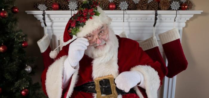 Papá Noel y los Reyes Magos Chimenea