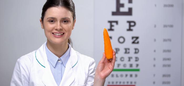 ¿La zanahoria es buena para la vista Doctora