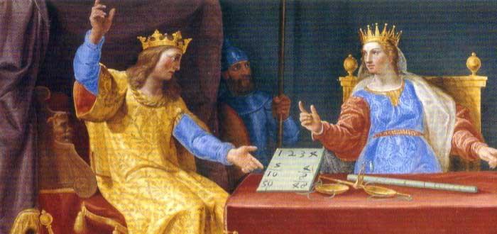 El rey con la reina de Saba