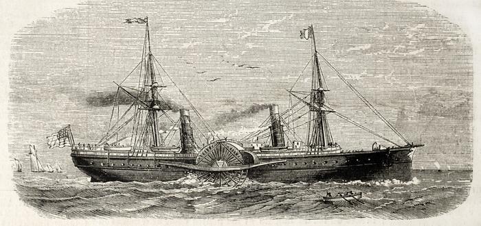 Inventos de la Revolución Industrial. Barco de vapor
