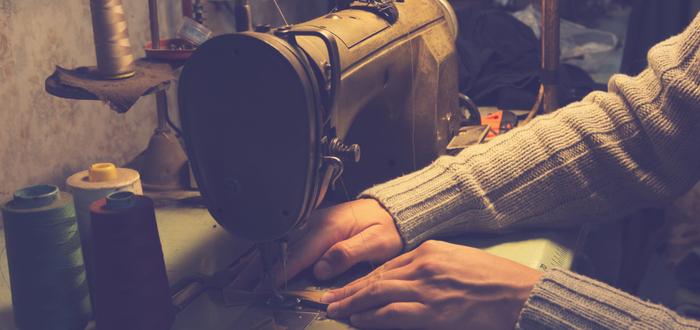 Inventos de la Revolución Industrial. Máquina de coser