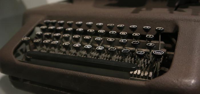 Inventos de la Revolución Industrial. Máquina de escribir