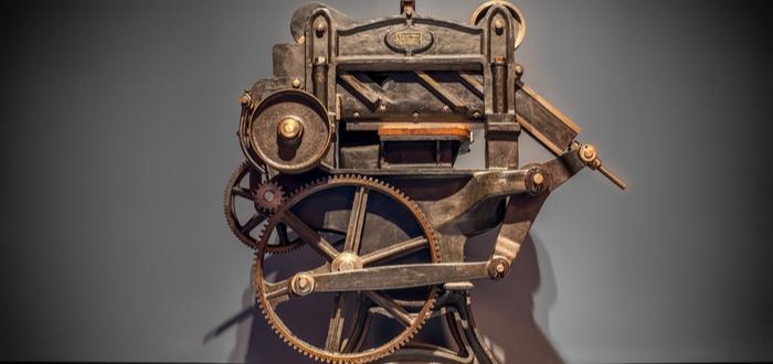 Inventos de la Revolución Industrial. Prensa de imprimir