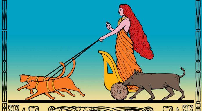 diosa freya en la mitologia nordica