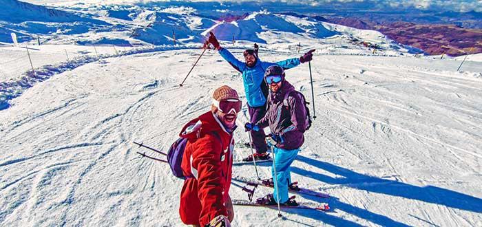 esqui en la nieve