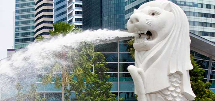 el merlion datos curiosos de singapur