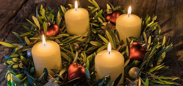 navidad de los cristianos corona de adviento